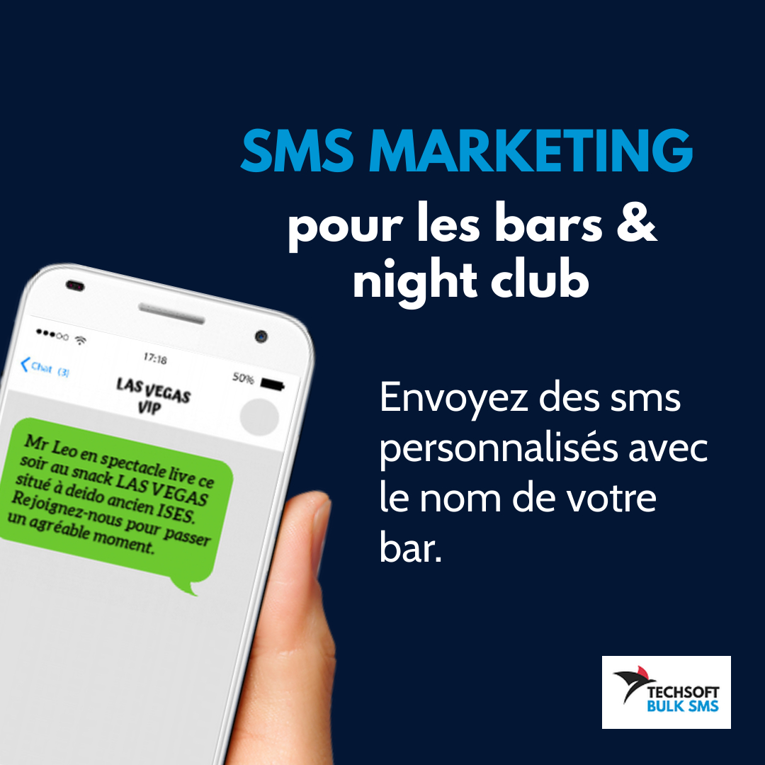 bulk sms marketing bars, pub et night club