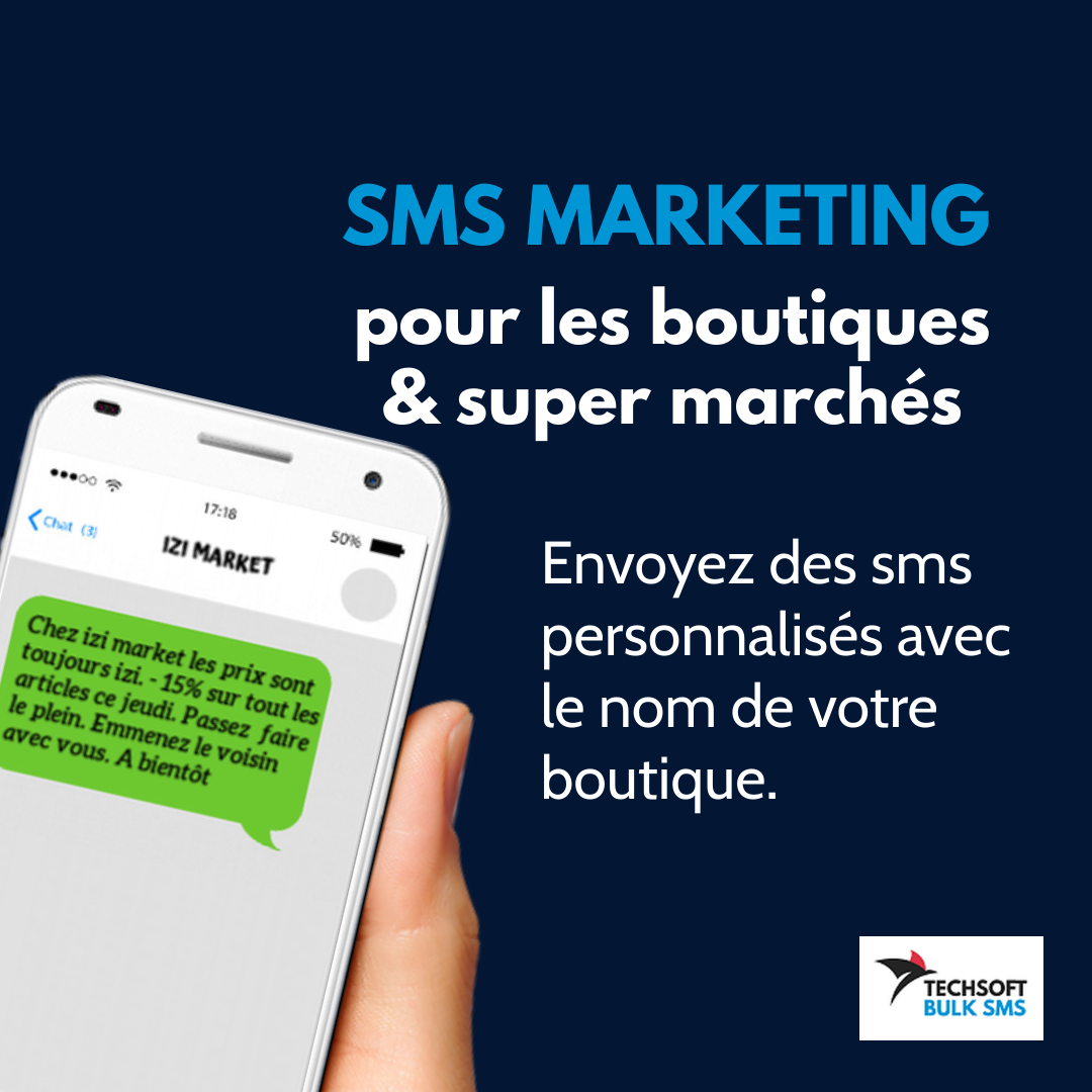 bulk sms marketing Commercants et grande distribution