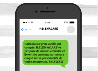 Exemple envoi SMS commercial  service de cadeaux