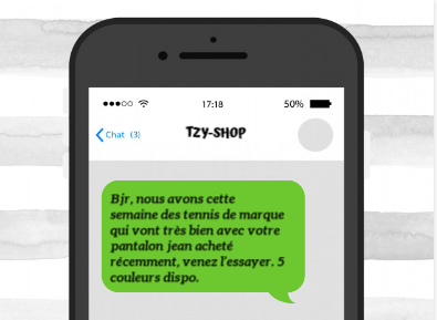 exemple type sms cross selling shopping